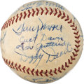 Baseball Collectibles:Balls, 1938 St. Louis Cardinals Team Signed Baseball from The Enos Slaughter Collection....