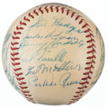 Baseball Collectibles:Balls, 1953 National League All-Star Team Signed Baseball from The Enos Slaughter Collection....