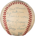Baseball Collectibles:Balls, 1942 St. Louis Cardinals Team Signed Baseball from The Enos Slaughter Collection. ...