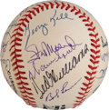 Baseball Collectibles:Balls, 1991-92 Hall of Famers Multi-Signed Baseball from The Enos Slaughter Collection. ...