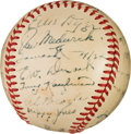 Baseball Collectibles:Balls, 1948 St. Louis Cardinals Team Signed Baseball from The Enos Slaughter Collection. ...