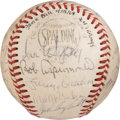 Baseball Collectibles:Balls, 1968 Houston Astros Team Signed Baseball Used in Record-Setting 24-Inning Game....