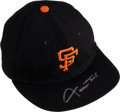 Baseball Collectibles:Uniforms, 1969 Willie Mays Game Worn & Signed San Francisco Giants Cap Attributed to 600th Home Run Game....