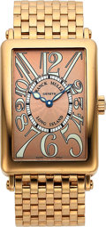 Timepieces:Wristwatch, Franck Muller, Long Island, 18K Rose Gold, Automatic, Boxes andCertificate, Ref. 1000 SC, Circa 2006. ...