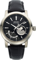 Timepieces:Wristwatch, Seiko, Spring Drive Moonphase, Limited Edition 044/200, Circa 2008. ...