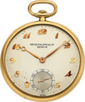 Timepieces:Pocket (post 1900), Patek Philippe & Cie, Ref. 724 Gent's 18k Gold Pocket Watch, circa 1944. ...