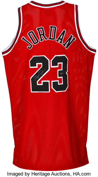 new style d05ba 2d8a3 1990's Michael Jordan Signed Chicago Bulls UDA Jersey ...
