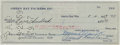 Football Collectibles:Others, 1959 Vince Lombardi Signed Check....