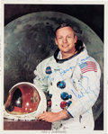 Miscellaneous Collectibles:General, Circa 1980 Neil Armstrong Signed Photograph. ...