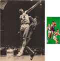 Basketball Collectibles:Others, 1970's Pete Maravich Signed Photographs Lot of 2. ...