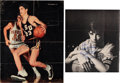 Basketball Collectibles:Photos, 1970's Pete Maravich Signed Magazine Photographs Lot of 2. ...