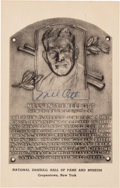 Baseball Collectibles:Others, 1946-52 Mel Ott Signed Albertype Hall of Fame Plaque Postcard. ...