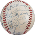Autographs:Baseballs, 1948 St. Louis Browns Team Signed Baseball with Blackie Schwamb....