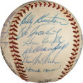 Autographs:Bats, 1958 Milwaukee Braves Team Signed Baseball....