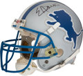 Football Collectibles:Helmets, 2002 Eric Davis Game Worn & Signed Detroit Lions Helmet and Interception Game Football from The Eric Davis Collection....