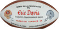 """Football Collectibles:Balls, 1994 NFC Championship (aka """"The Real Super Bowl"""") Interception Touchdown Football from The Eric Davis Collection...."""