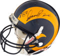 Football Collectibles:Helmets, 1996 Isaac Bruce Game Worn St. Louis Rams Helmet from The Eric Davis Collection....
