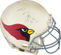 Football Collectibles:Helmets, 1994 Aeneas Williams Game Worn & Signed Arizona Cardinals Helmet from The Eric Davis Collection....