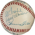 Baseball Collectibles:Balls, Early 1950's Hall of Famers Multi-Signed Baseball with Cobb,Speaker, Foxx....