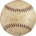 Autographs:Baseballs, 1927 Babe Ruth and Lou Gehrig Signed Baseball....