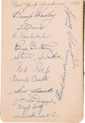 Autographs:Others, 1938 Autograph Book Signed by 160+ with Lou Gehrig & Fred Goldsmith....