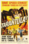 "Movie Posters:Science Fiction, Tarantula (Universal, 1955). One Sheet (27"" X 41""). Deep in theArizona desert, a common tarantula is mutated into a giant m..."