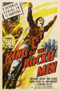"Movie Posters:Serial, King of the Rocket Men (Republic, 1949). One Sheet (27"" X 41"").Inspired by early science fiction pulps and the comic strips..."