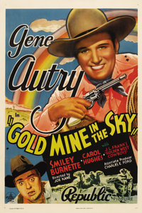 """Gold Mine In the Sky (Republic, 1938). One Sheet (27"""" X 41""""). This is Gene Autry at the height of his success..."""
