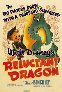 """The Reluctant Dragon (RKO, 1941). One Sheet (27"""" X 41"""") Style A. The first Disney film to feature live-action..."""