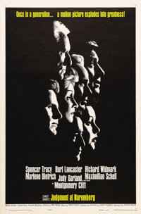"""Judgment at Nuremberg (United Artists, 1961). One Sheet (27"""" X 41""""). Stanley Kramer's film about the trial of..."""