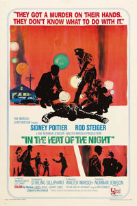 """In the Heat of the Night (United Artists, 1967). One Sheet (27"""" X 41""""). Rod Steiger won an Oscar for his role..."""