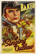 "Movie Posters:Western, The Singing Outlaw (Universal, 1938). One Sheet (27"" X 41"").Stanley Leland Weed (who got the nickname ""Tumble"" Weed in the ..."