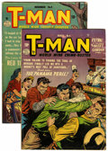 "Golden Age (1938-1955):Crime, T-Man Group - Davis Crippen (""D"" Copy) pedigree (Quality,1951-52).... (Total: 2)"