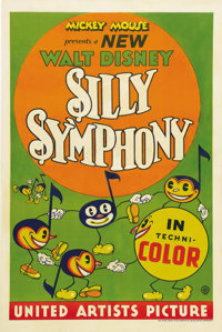 "Silly Symphony (United Artists, 1932). Stock One Sheet (27"" X 41""). During the fall of 1932, Walt Disney's con..."