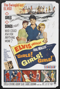 "Girls! Girls! Girls! (Paramount, 1962). One Sheet (27"" X 41""). Musical Comedy. Starring Elvis Presley, Stella..."