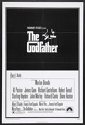 "Movie Posters:Crime, The Godfather (Paramount, 1972). One Sheet (27"" X 41""). Crime.Starring Marlon Brando, Al Pacino, James Caan, Richard S. Cas..."
