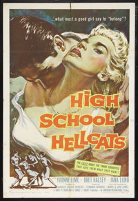 "High School Hellcats (AIP, 1958). One Sheet (27"" X 41""). Juvenile Delinquent. Starring Yvonne Lime, Bret Halse..."