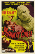 "Movie Posters:Horror, The Mummy's Curse (Realart, R-1951). One Sheet (27"" X 41""). Kharisrises from the dead one more time in this Realart re-rele..."