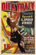 "Movie Posters:Serial, Dick Tracy (Republic, 1937). One Sheet (27"" X 41""). Episode 1 -""The Spider Strikes."" Republic Studios produced some of the ..."