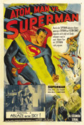 "Movie Posters:Serial, Atom Man vs. Superman (Columbia, 1950). One Sheet (27"" X 41"").Chapter 3 -- ""A Blaze in the Sky"". The second of Columbia's S..."