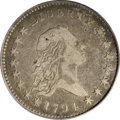 Early Half Dollars: , 1794 50C VF35 PCGS. O-101, R.4. Obverse star 1 pierces the centerof the lowest hair curl; this variety features the only r...