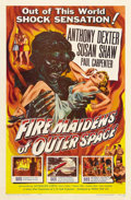 "Movie Posters:Science Fiction, Fire Maidens of Outer Space (Topaz, 1956). One Sheet (27"" X 41"").The premise of this film is, the descendents of Atlantis o..."