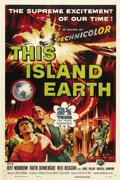 "Movie Posters:Science Fiction, This Island Earth (Universal, 1955). One Sheet (27"" X 41""). Thisfilm is one of the most intelligent and elaborate science f..."