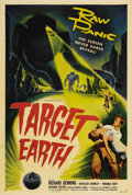 "Movie Posters:Science Fiction, Target Earth (Allied Artists, 1954). One Sheet (27"" X 41""). Thisfilm was adapted from Paul W. Fairman's short story ""Deadly..."