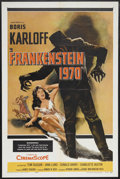 "Movie Posters:Horror, Frankenstein 1970 (Allied Artists, 1958). One Sheet (27"" X 41"").Horror. Starring Boris Karloff, Tom Duggan, Jana Lund, Don ..."