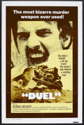 "Movie Posters:Action, Duel (Universal, 1972). One Sheet (27"" X 41""). Thriller. StarringDennis Weaver and Jacqueline Scott. Directed by Steven Spi..."