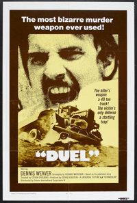 "Duel (Universal, 1972). One Sheet (27"" X 41""). Thriller. Starring Dennis Weaver and Jacqueline Scott. Directed..."