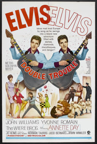 "Double Trouble (MGM, 1967). One Sheet (27"" X 41""). Rock Musical. Starring Elvis Presley, John Williams, Yvonne..."