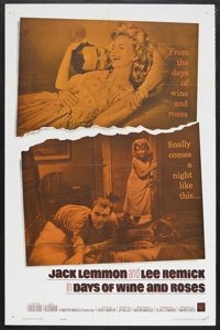 """Days of Wine and Roses (Warner Brothers, 1962). One Sheet (27"""" X 41""""). Drama. Starring Jack Lemmon, Lee Remick..."""