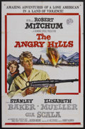 "Movie Posters:Drama, The Angry Hills (MGM, 1959). One Sheet (27"" X 41""). War. Starring Robert Mitchum, Stanley Baker, Elisabeth Muller, Gia Scala..."